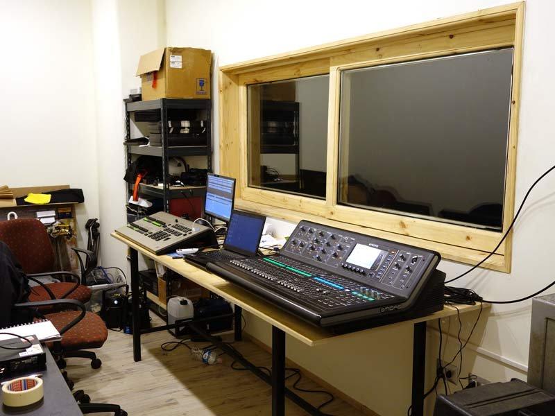 Sala control de sonido - Teatro del Centro Cultural de Castro