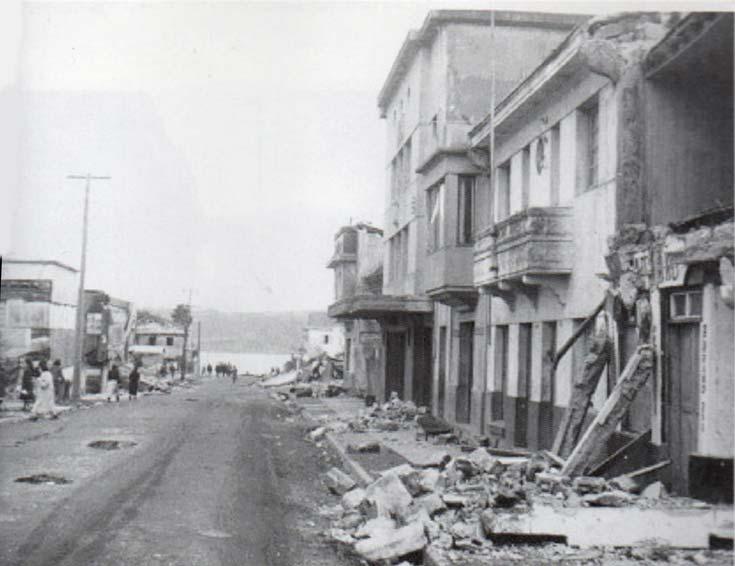 El Teatro Rex de Castro en el terremoto del año 1960