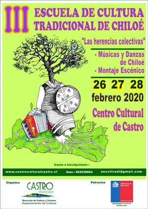 afiche iii Escuela de Cultura Tradicional de Chiloé