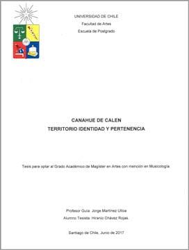 CHÁVEZ - Canahue de Calen
